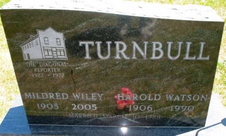 TURNBULL, MILDRED ANNE (WILLEY) - Ringgold County, Iowa   MILDRED ANNE (WILLEY) TURNBULL