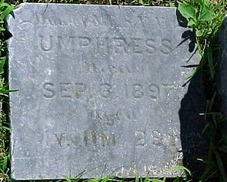 UMPHRESS, INFANT DAUGHTER - Ringgold County, Iowa | INFANT DAUGHTER UMPHRESS