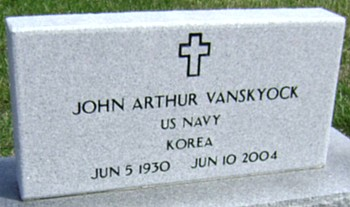 VANSKYOCK, JOHN ARTHUR - Ringgold County, Iowa   JOHN ARTHUR VANSKYOCK