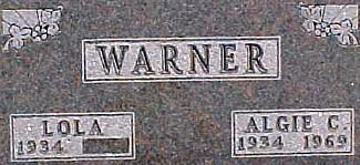 WARNER, ALGIE CLAIR - Ringgold County, Iowa | ALGIE CLAIR WARNER