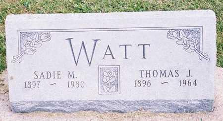 WATT, THOMAS J. - Ringgold County, Iowa | THOMAS J. WATT