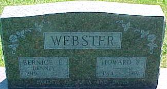 WEBSTER, BERNICE E. (DENNEY) - Ringgold County, Iowa | BERNICE E. (DENNEY) WEBSTER