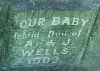 WELLS, INFANT DAUGHTER - Ringgold County, Iowa   INFANT DAUGHTER WELLS