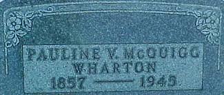 MCQUIGG WHARTON, PAULINE V. - Ringgold County, Iowa | PAULINE V. MCQUIGG WHARTON