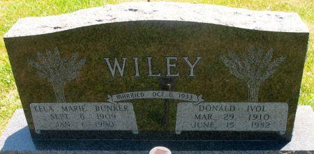 WILEY, DONALD IVOL - Ringgold County, Iowa   DONALD IVOL WILEY