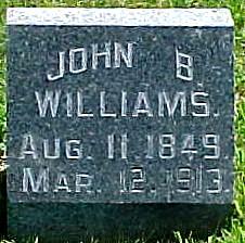 WILLIAMS, JOHN B. - Ringgold County, Iowa   JOHN B. WILLIAMS