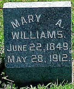 WILLIAMS, MARY A. - Ringgold County, Iowa   MARY A. WILLIAMS