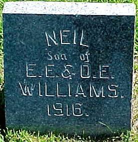 WILLIAMS, NEIL - Ringgold County, Iowa   NEIL WILLIAMS