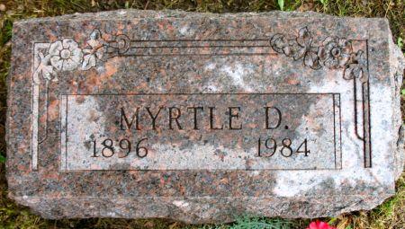 YASHACK, MYRTLE D. - Ringgold County, Iowa   MYRTLE D. YASHACK