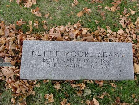 ADAMS, NETTIE - Sac County, Iowa | NETTIE ADAMS