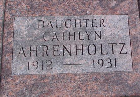 AHRENHOLTZ, CATHLYN - Sac County, Iowa | CATHLYN AHRENHOLTZ