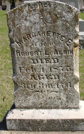 ALBIN, MARGARETTE E. - Sac County, Iowa   MARGARETTE E. ALBIN