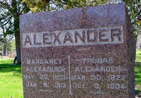 ALEXANDER, TOM &  MARGARET - Sac County, Iowa   TOM &  MARGARET ALEXANDER