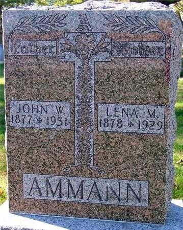 AMMANN, JOHN & LENA - Sac County, Iowa   JOHN & LENA AMMANN