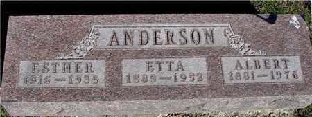 ANDERSON, ALBERT & ETTA - Sac County, Iowa | ALBERT & ETTA ANDERSON