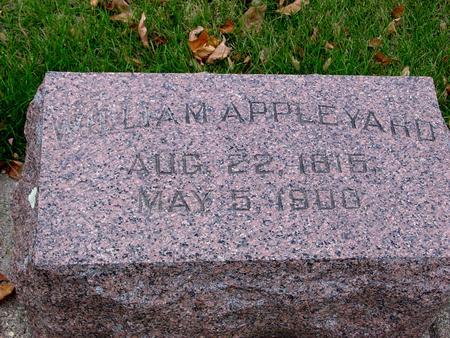 APPLEYARD, WILLIAM - Sac County, Iowa | WILLIAM APPLEYARD