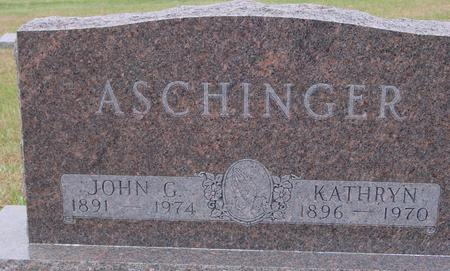 ASCHINGER, JOHN & KATHRYN - Sac County, Iowa   JOHN & KATHRYN ASCHINGER