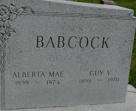 BABCOCK, GUY & ALBERTA MAE - Sac County, Iowa   GUY & ALBERTA MAE BABCOCK