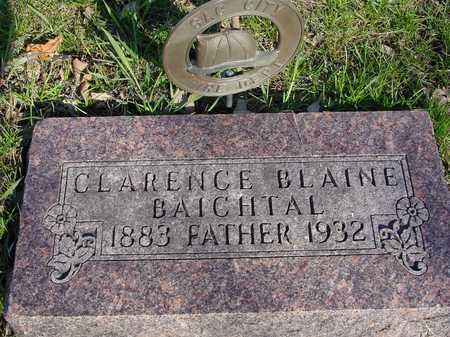 BAICHTAL, CLARENCE BLAINE - Sac County, Iowa | CLARENCE BLAINE BAICHTAL