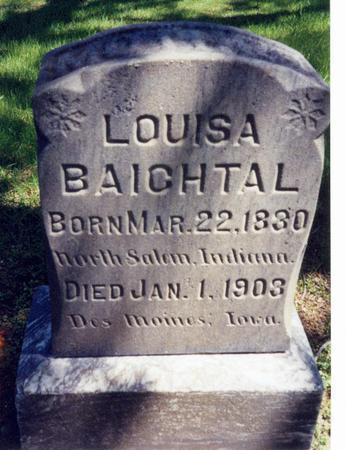 DAVIDSON BAICHTAL, LOUISA - Sac County, Iowa | LOUISA DAVIDSON BAICHTAL