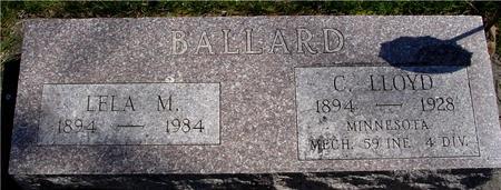 BALLARD, C. LLOYD & LELA M. - Sac County, Iowa | C. LLOYD & LELA M. BALLARD