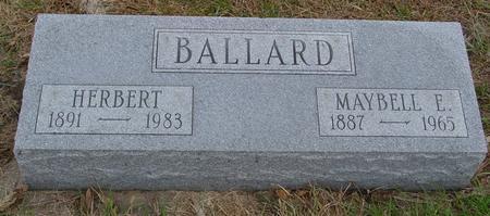 BALLARD, HERBERT & MAYBELL - Sac County, Iowa | HERBERT & MAYBELL BALLARD