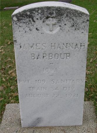 BARBOUR, JAMES HANNAH - Sac County, Iowa | JAMES HANNAH BARBOUR