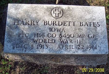 BATES, HARRY BURDETT - Sac County, Iowa | HARRY BURDETT BATES