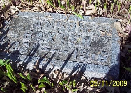 BAXTER, ANSON - Sac County, Iowa   ANSON BAXTER