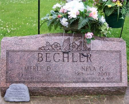 BECHLER, MERLE D - Sac County, Iowa   MERLE D BECHLER