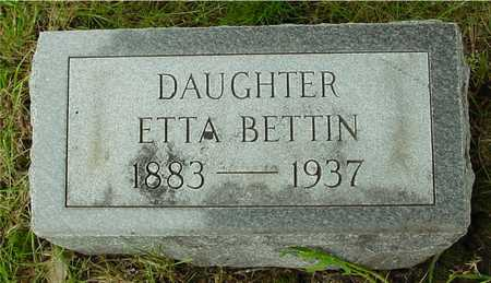BETTIN, ETTA - Sac County, Iowa   ETTA BETTIN
