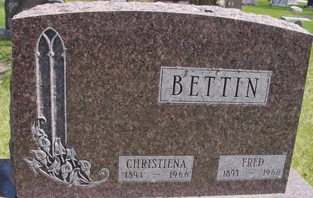 BETTIN, FRED & CHRISTIENA - Sac County, Iowa   FRED & CHRISTIENA BETTIN
