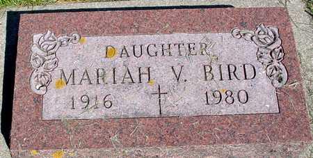 BIRD, MARIAH V. - Sac County, Iowa   MARIAH V. BIRD
