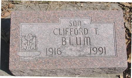 BLUM, CLIFFORD T. - Sac County, Iowa | CLIFFORD T. BLUM