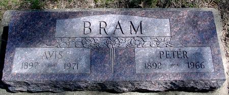 BRAM, PETER & AVIS - Sac County, Iowa   PETER & AVIS BRAM
