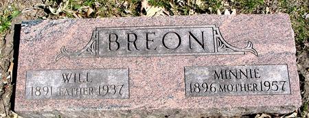 BREON, WILL & MINNIE - Sac County, Iowa | WILL & MINNIE BREON