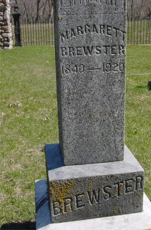 BREWSTER, MARGARETT - Sac County, Iowa   MARGARETT BREWSTER