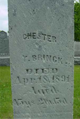 BRINCK, CHESTER - Sac County, Iowa   CHESTER BRINCK