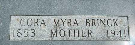 BRINCK, CORA MYRA - Sac County, Iowa | CORA MYRA BRINCK