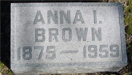BROWN, ANNA I. - Sac County, Iowa | ANNA I. BROWN