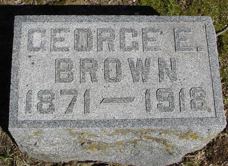 BROWN, GEORGE E. - Sac County, Iowa | GEORGE E. BROWN