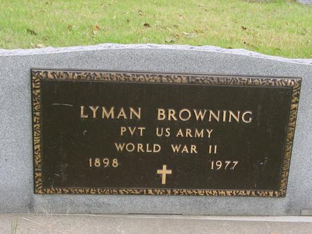 BROWNING, LYMAN - Sac County, Iowa | LYMAN BROWNING
