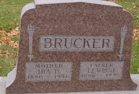 BRUCKER, LEWIS J. & IDA D. - Sac County, Iowa | LEWIS J. & IDA D. BRUCKER