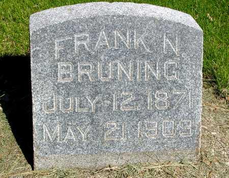 BRUNING, FRANK N. - Sac County, Iowa | FRANK N. BRUNING