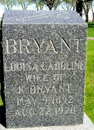 BRYANT, LOUISA CAROLINE - Sac County, Iowa | LOUISA CAROLINE BRYANT