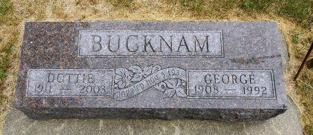 WILLIAMS BUCKNAM, DOROTHY MAE