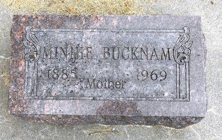 BUCKNAM, MINNIE - Sac County, Iowa   MINNIE BUCKNAM