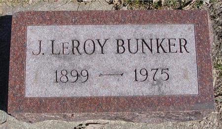 BUNKER, J. LEROY - Sac County, Iowa   J. LEROY BUNKER