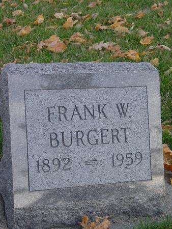 BURGERT, FRANK W. - Sac County, Iowa | FRANK W. BURGERT