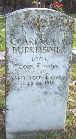 BURKHEIMER, CLARENCE W - Sac County, Iowa   CLARENCE W BURKHEIMER